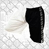 FIGHT-FIT - Fitness Shorts / Schwarz-Weiss